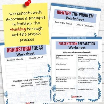 Engineering Design Process workksheets by iGameMom